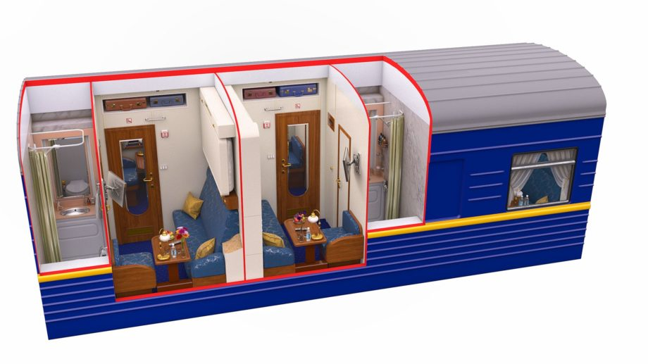 Diagram of the Silver Class during daytime on the Golden Eagle train