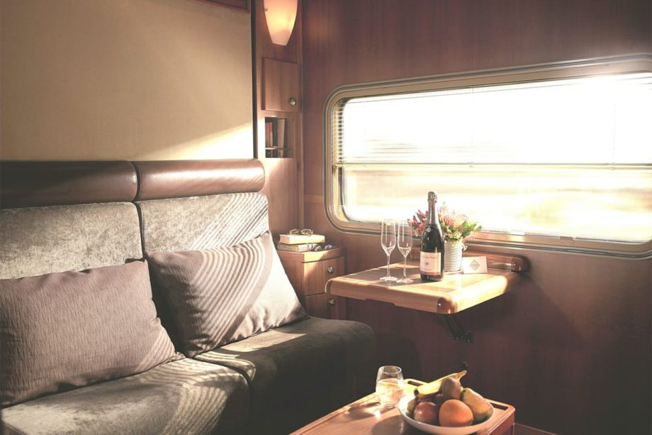 Platinum cabin on the Indian Pacific train