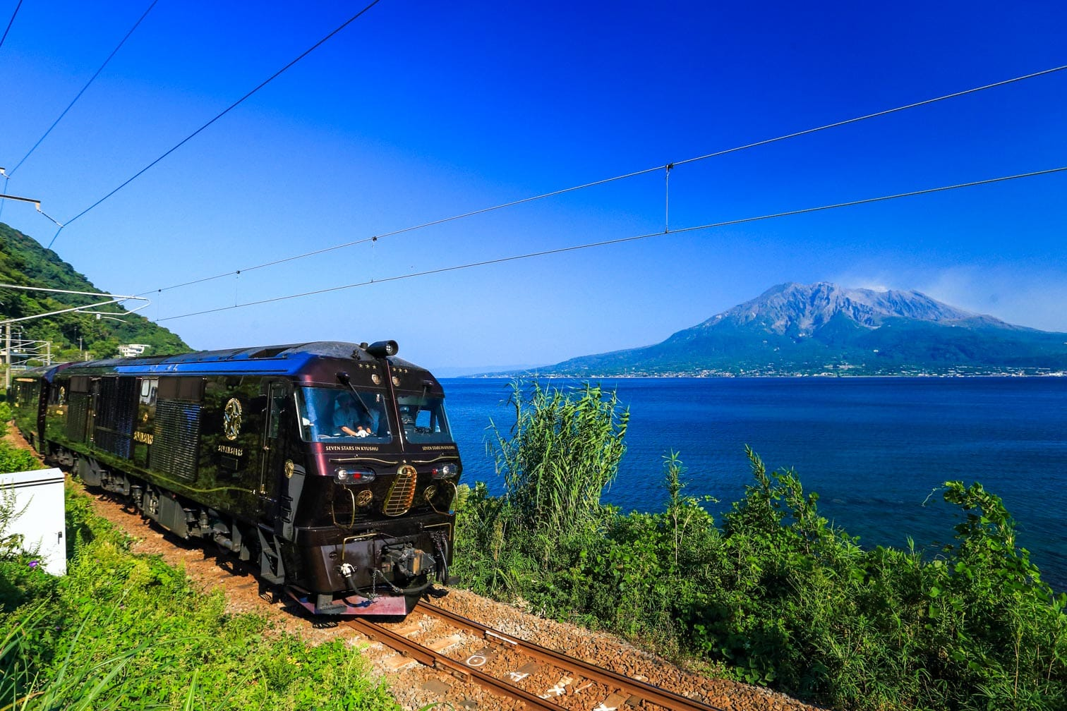 Kyushu Seven Stars train on the coast