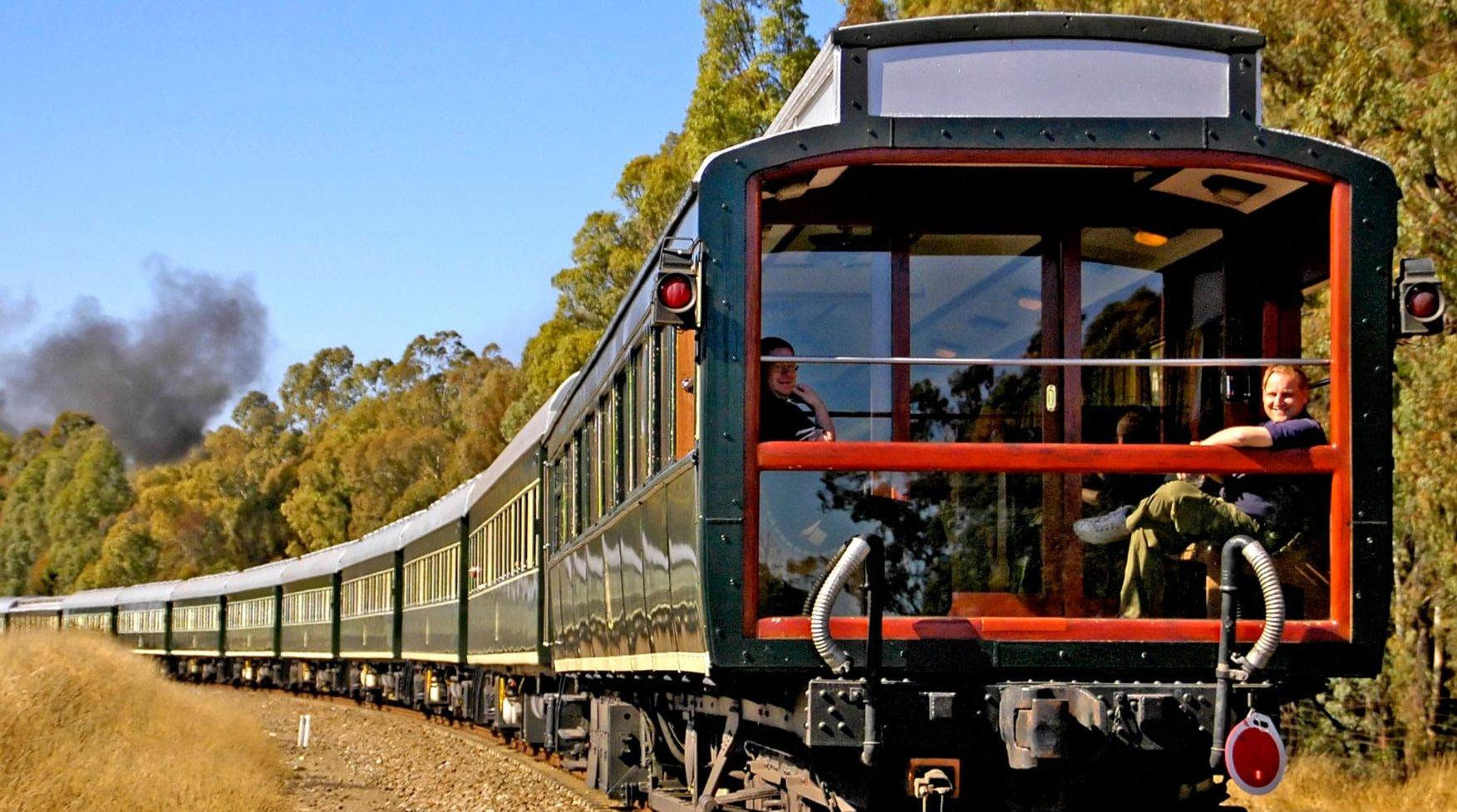 Exterior of the Rovos Rail Pride of Africa train