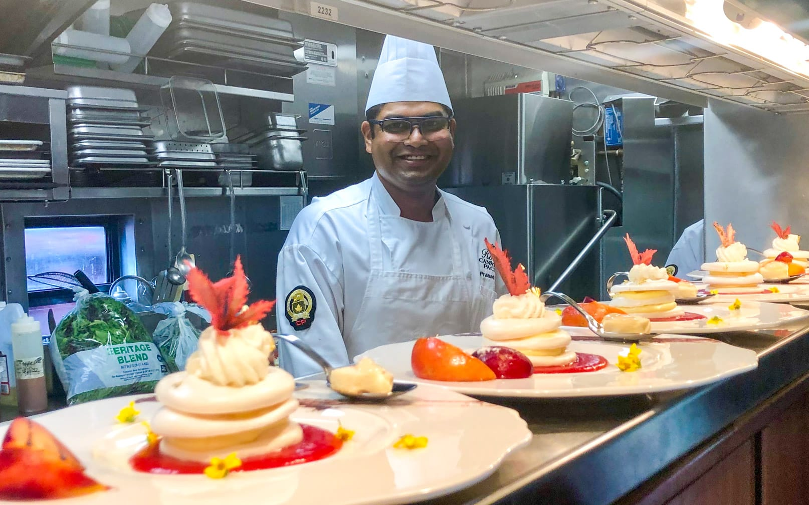 Chef on the Royal Canadian Pacific train