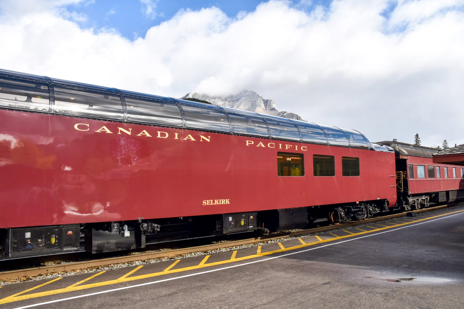 Exterior of the Royal Canadian Pacific train