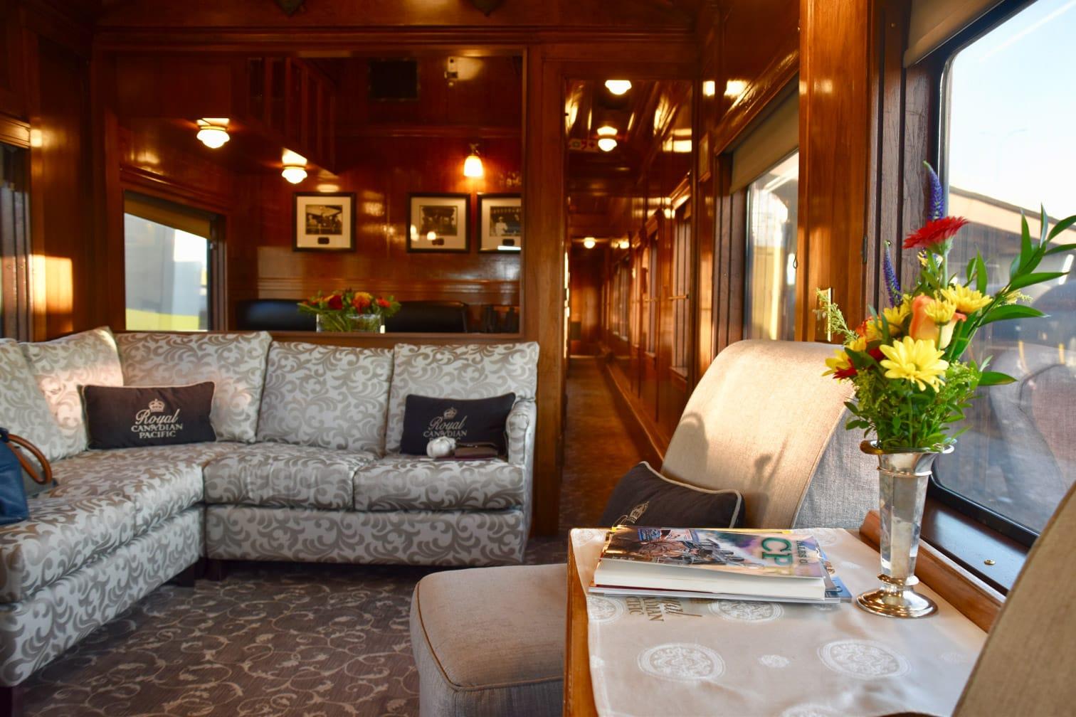Lounge on the Royal Canadian Pacific train