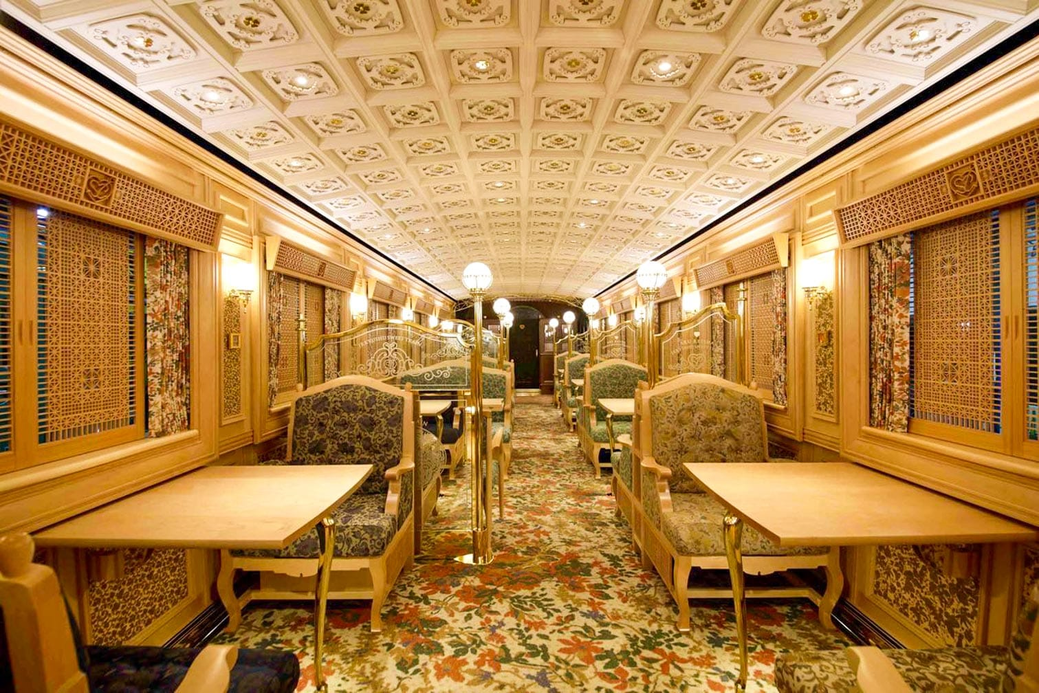 The dining car on The Sweet Train