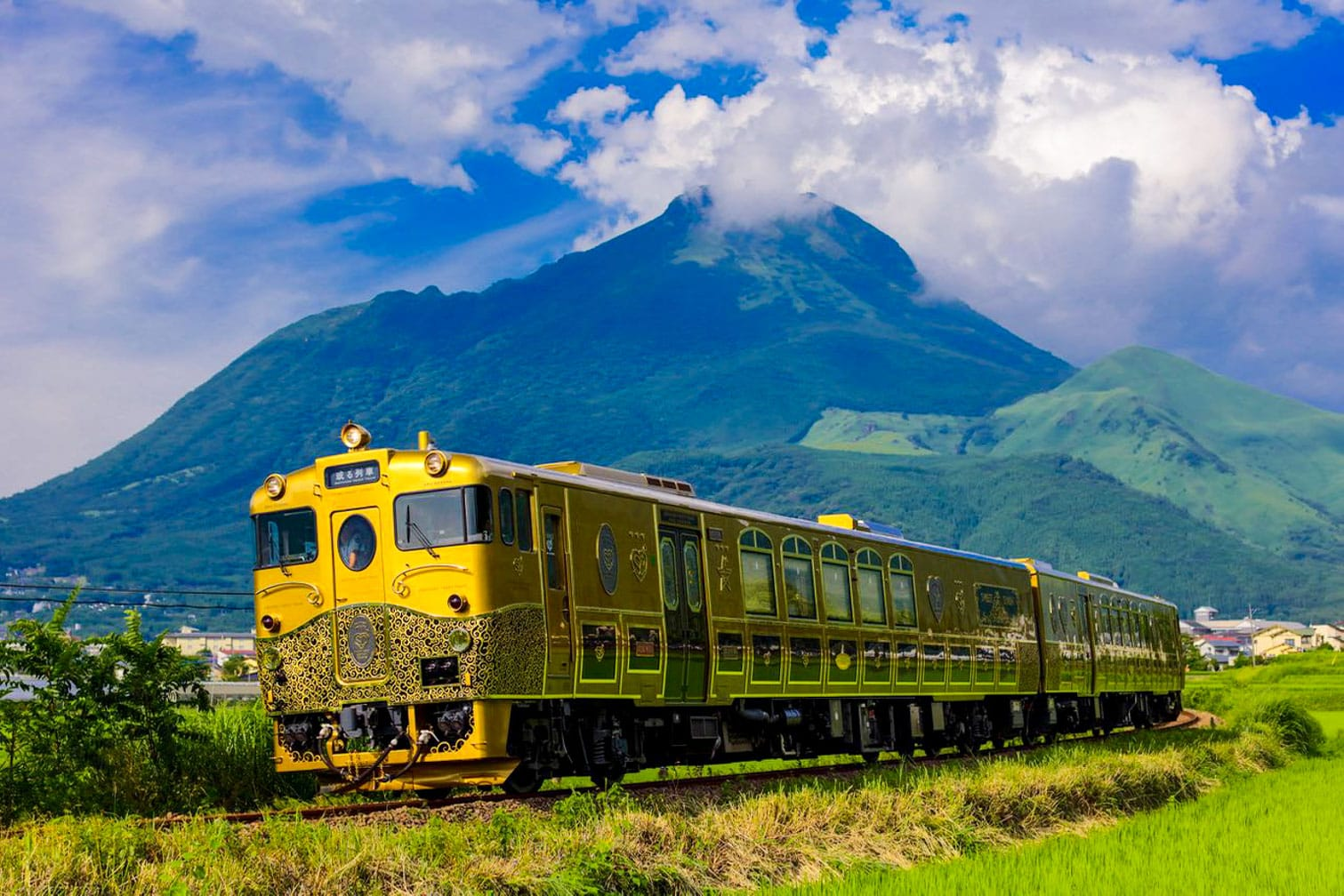 The Sweet Train going through mountains