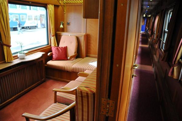 GE Danube Express Deluxe Cabin has two lower berths. IRT Photo by Angela Walker