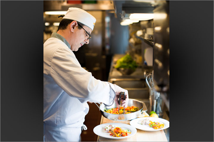 Gourmet meals aboard Via's Canadian