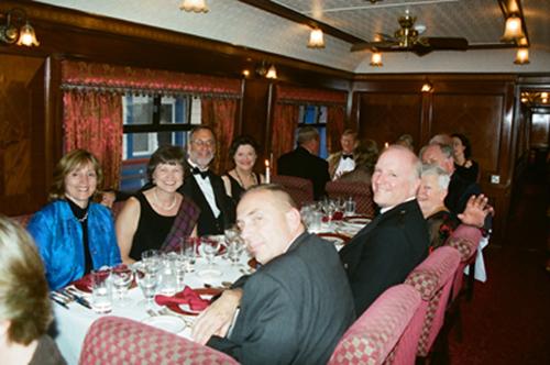 IRT Society members enjoy dinner aboard the Royal Scotsman, 2005.