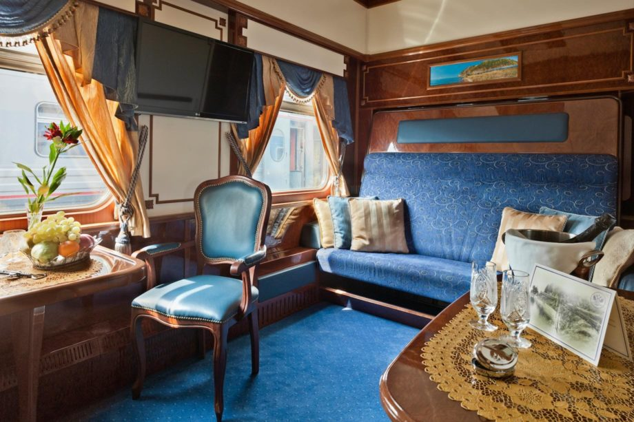 Imperial suite on the Jewels of the Silk Road Aboard the Golden Eagle Luxury Train journey
