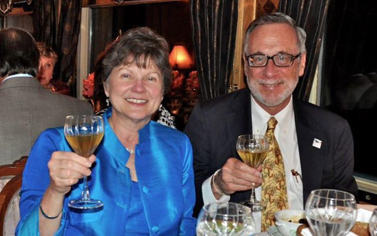 Owen & Eleanor Hardy at dinner