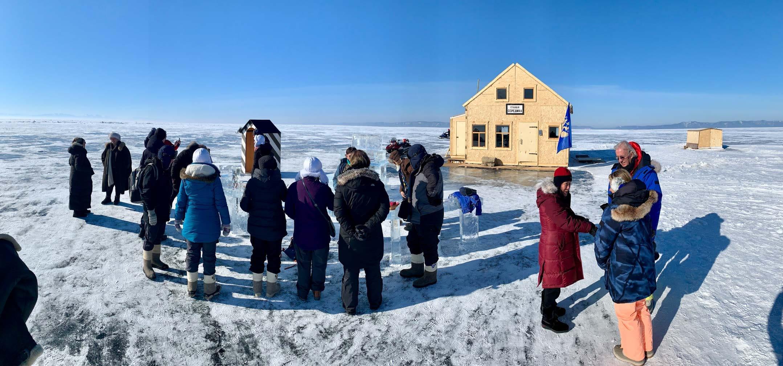 Credit timonthetrain.com - Our group at Lake Baikal