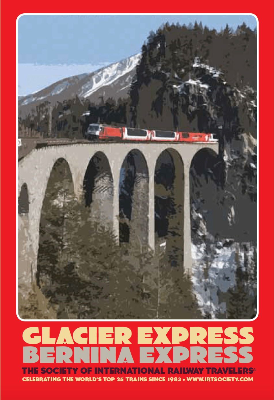 Poster of Switzerland's famous Glacier Express and Bernina Express