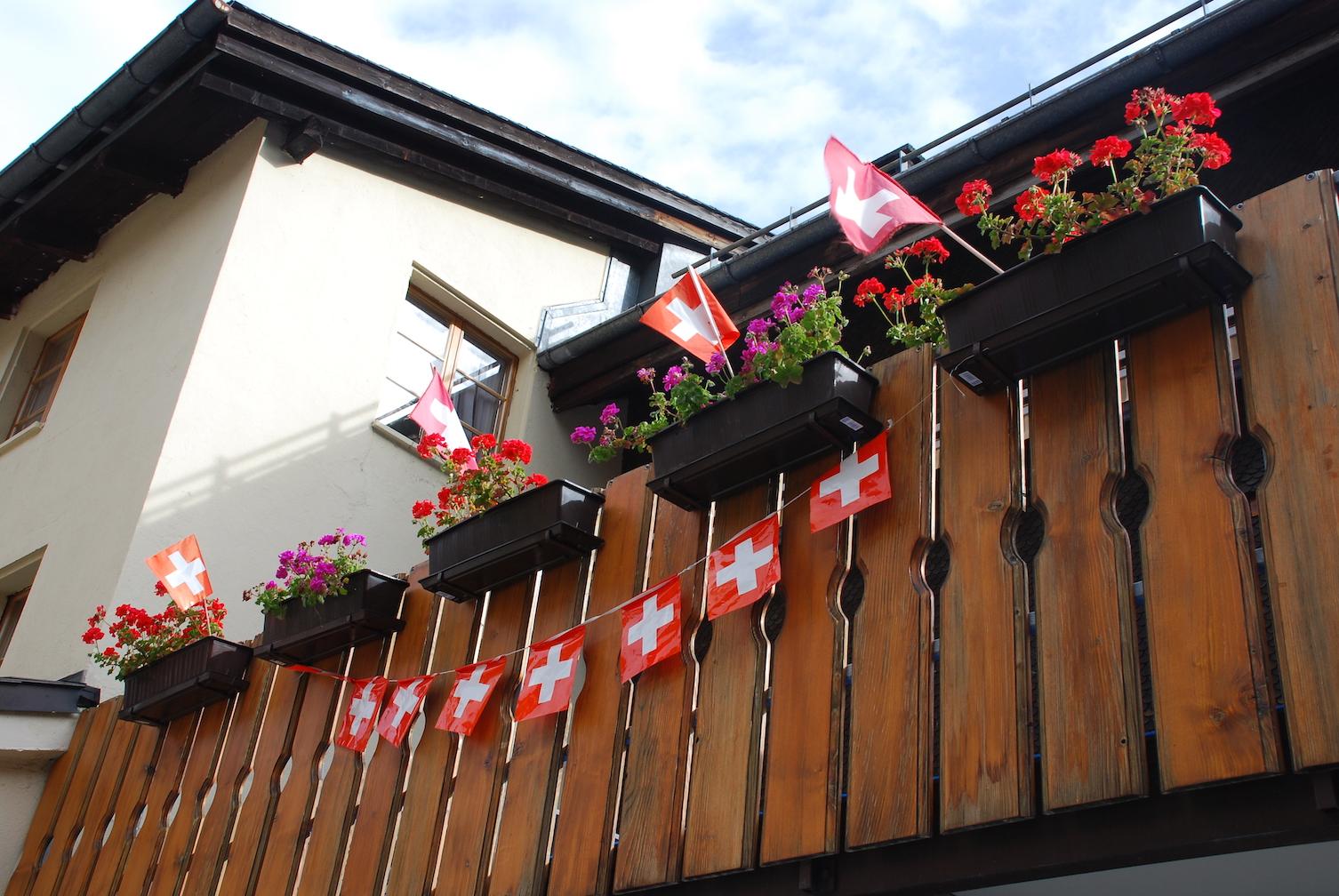 Switzerland flower boxes