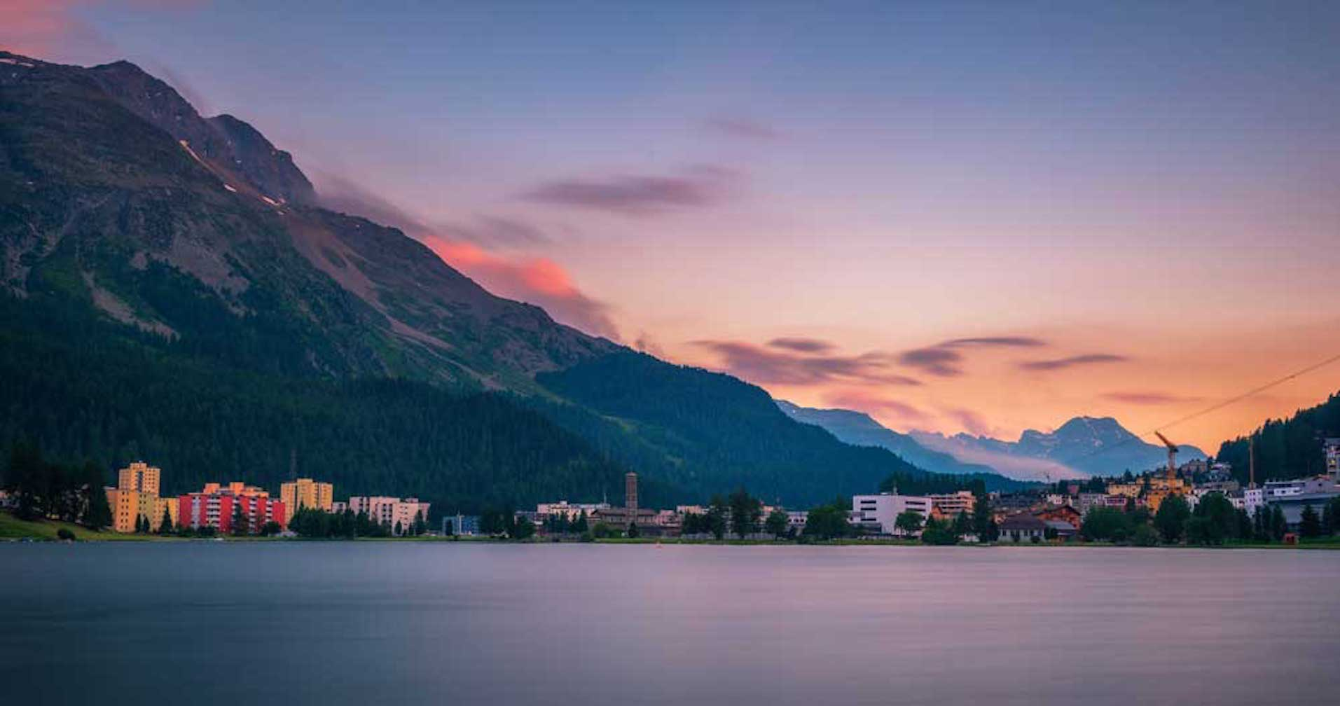 Swiss Rail Spectacular St Moritz Switzerland