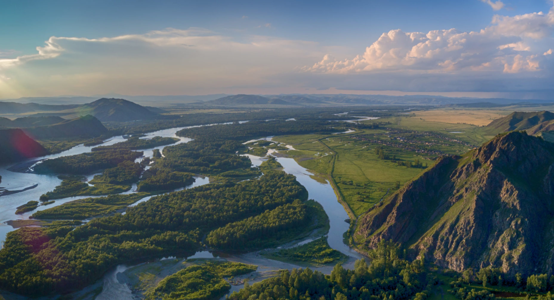 Sayan Mountains in Russia.