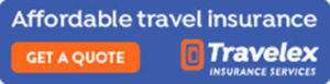 Travelex insurance blue and orange logo